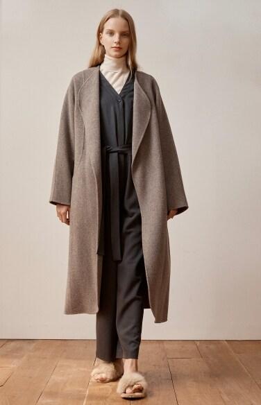 robe maxi handmade coat