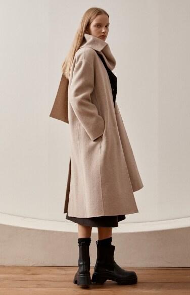 muffler handmade coat