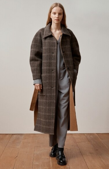 check reversible handmade coat