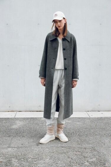 classic herringbone handmade coat