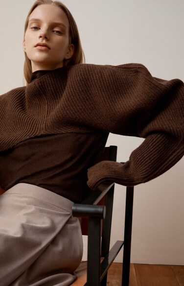 shoulder languish knit