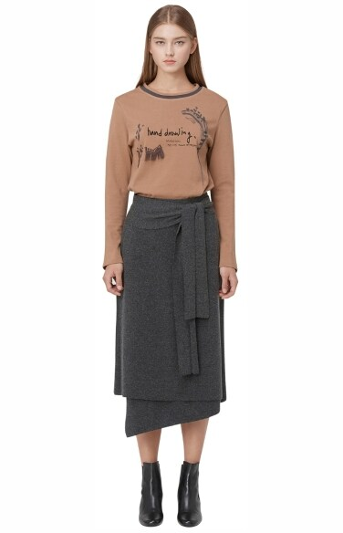 wrap knit skirt