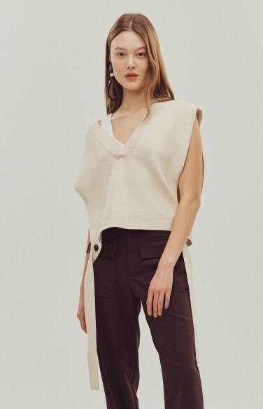 twine knit vest