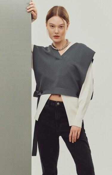twine knit vest(이세영 진기주 김시은 착용)