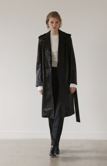 lambskin long trench coat(강예원 홍수현 착용)
