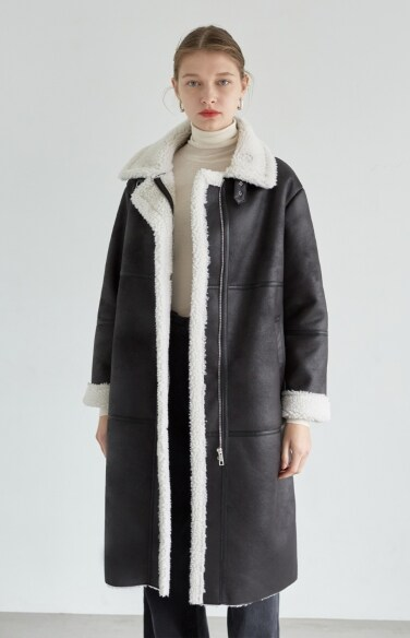vegan shearling coat