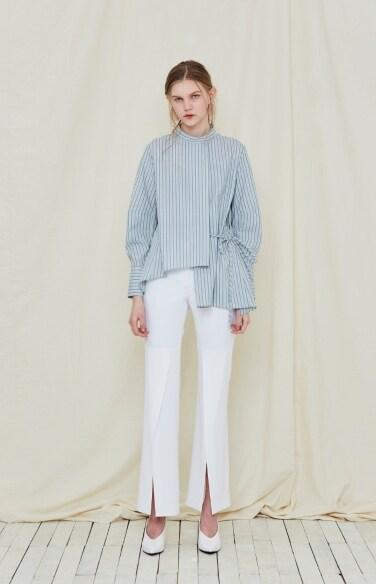 self-tie tunic blouse