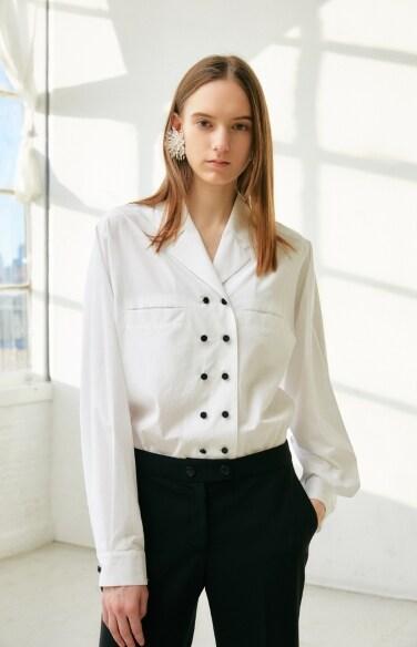 double buttoned shirt blouse