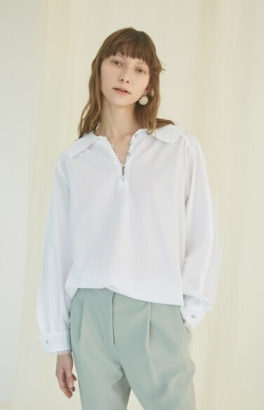 pearl button blouse