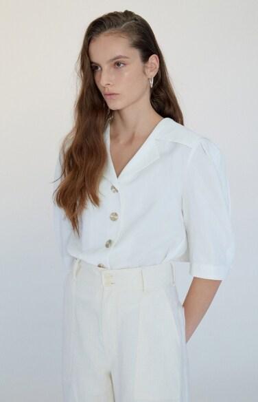 cape collar blouse