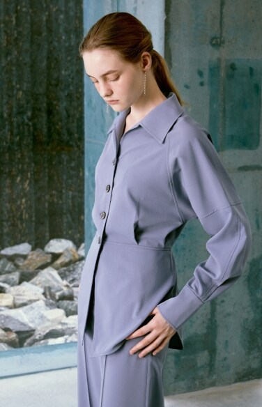 waist-pintuck shirt blouse