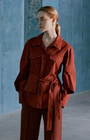 mini pocket belted shirt blouse(박신혜 정인선 착용)