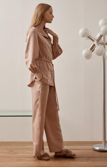 pajamas belted blouse