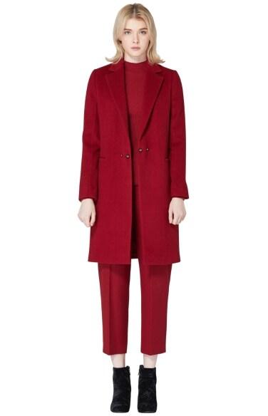 slim wool coat