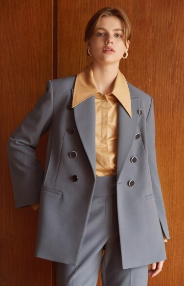 double breasted color jacket