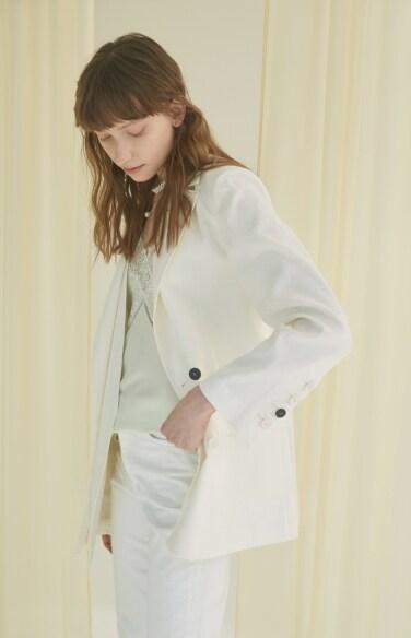 double hem white jacket