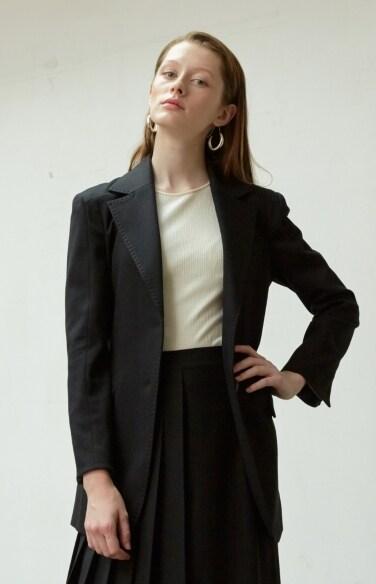 black slim jacket