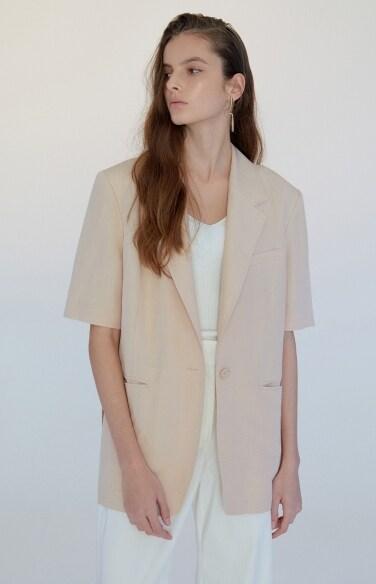linen belted jacket