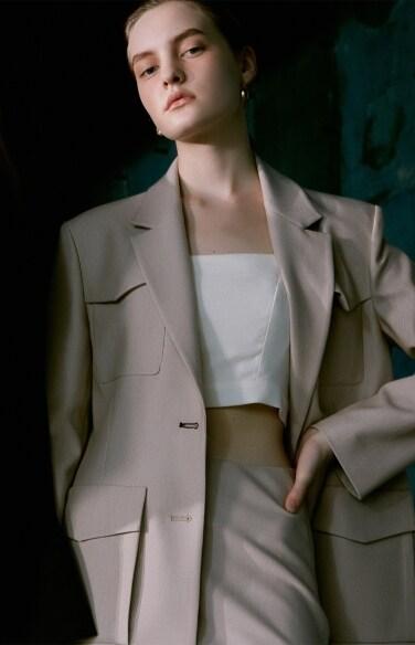 four pocket twill jacket(황보라 착용)