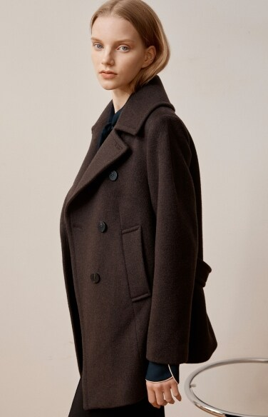 big lapel pea coat
