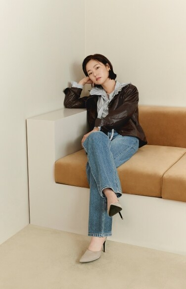 artificial leather casual jacket