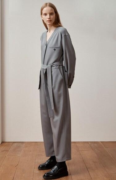 pocket belted jumpsuit
