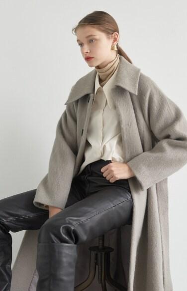 alpaca hair long coat (Alpaca blend)(레드벨벳 예리 착용)