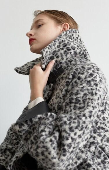 leopard long coat (Fabric from Italy)