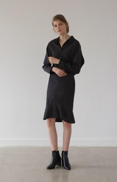 asymmetric shirt dress(조보아 착용)