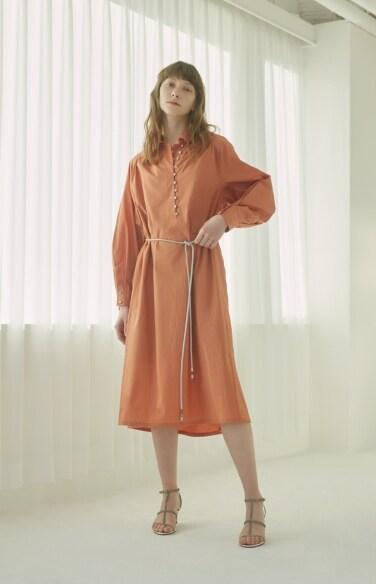 rope belted shirt dress