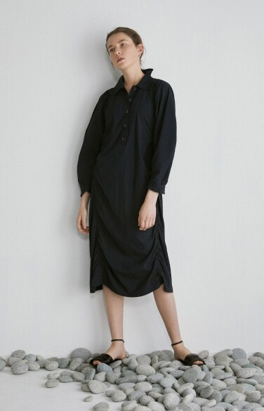 butterfly collar shirt dress