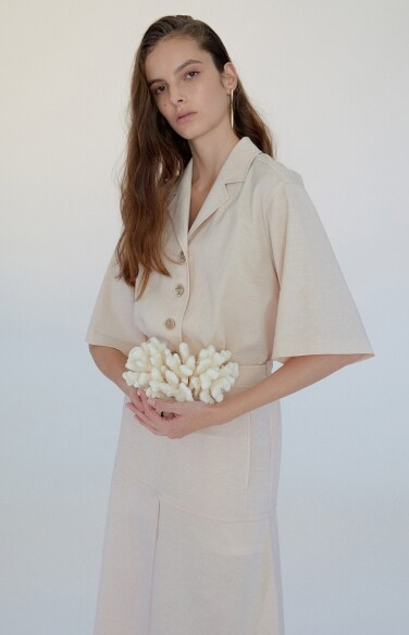 suit-up linen dress