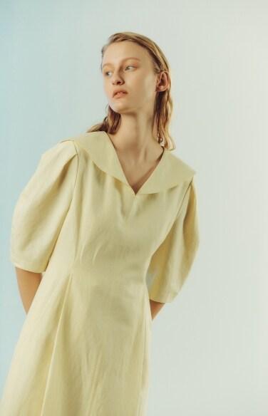 sailor collar linen dress