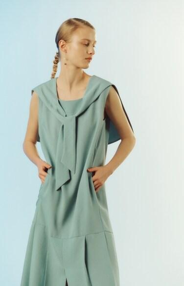 sailor collar pleats dress