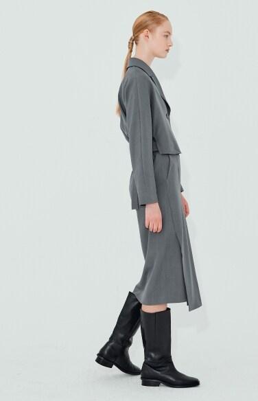 formal belted shirt dress