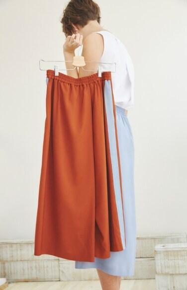 colorblocked wrap pants(채시라 착용)