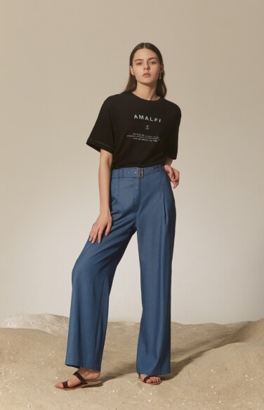 wideleg denim pants