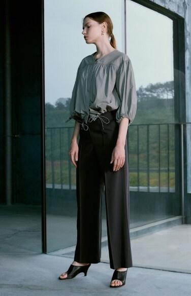 mannish-pintuck wide pants(한지완 박지현 강한나   착용)
