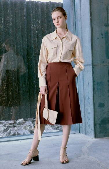pintuck wide culottes pants(원진아    착용)