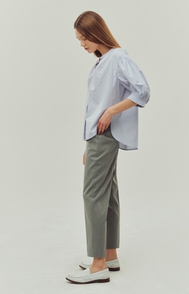hidden button tapered pants