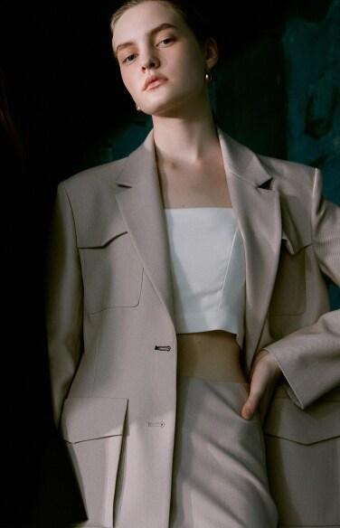 slim flare skirt(황보라 착용)