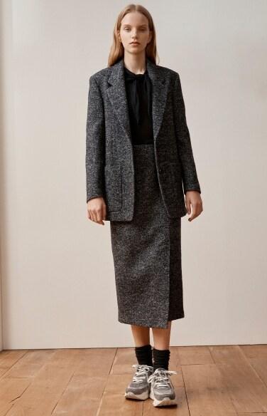 bokashi H-line skirt