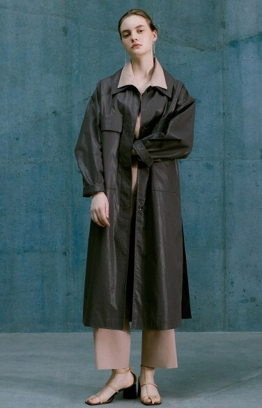 wide collar belted trench coat(박신혜 착용)