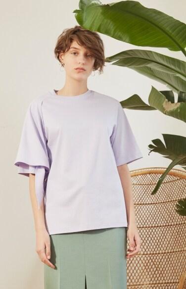 sleeve tie t-shirt