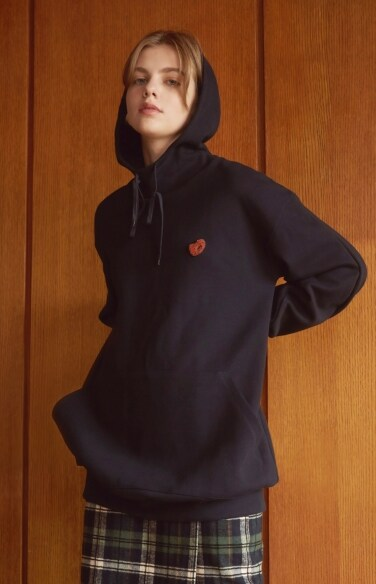 double-faced jersey hoodie
