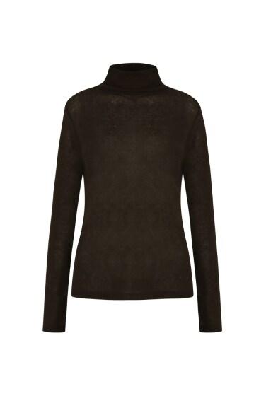 simple turtleneck pullover (wool blend)